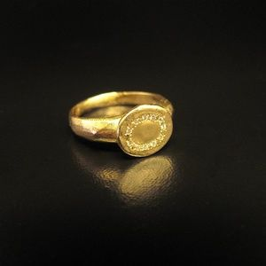 14k gold signet ring.